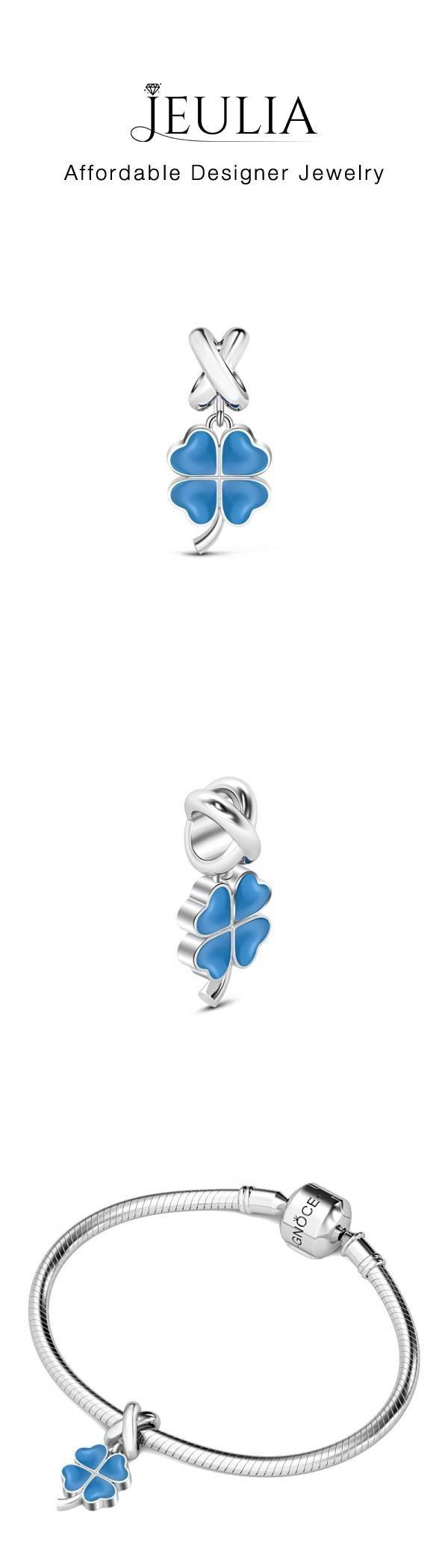 #Jeulia JEULIA Four-leaf Clover Pendant Sterling Silver. Discover more stunning Nature from Jeulia.com. Shop Now!