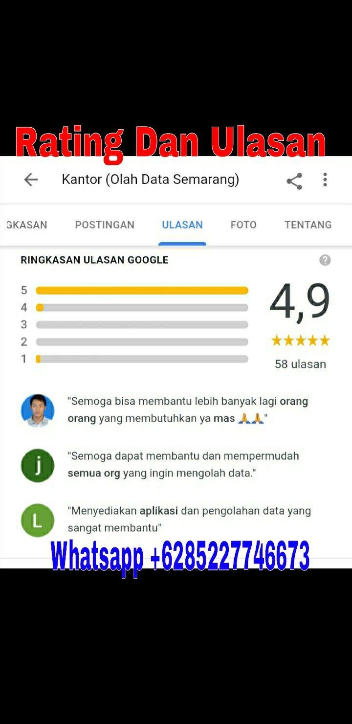 Rating Dan Ulasan Olah Data Semarang Wa 085227746673 Melayani Jasa Olah Data Software Spss Eviews Amos Lisrel Smartpls Wdea Warwi Semarang Posting Google