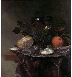 Abraham Van Beyeren (1620/21-90). Peintre néerlandais,  Nature morte