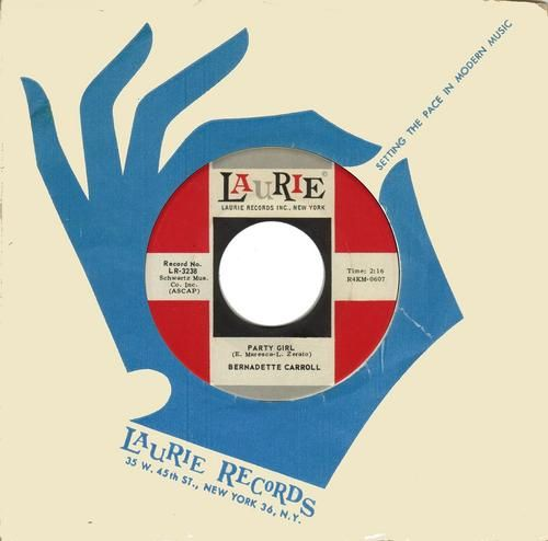 1964 Laurie Records — 45 rpm Record/Record Label & Record Sleeve