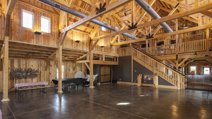 Wood Barn Event Center | Sand Creek Post  Beam  https://www.facebook.com/SandCreekPostandBeam