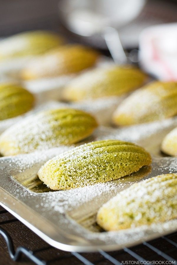 Green Tea Madeleine (Matcha Madeleine) | Easy Japanese Recipes at JustOneCookbook.com