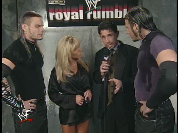 The Hardyz and Terri at Royal Rumble 2000