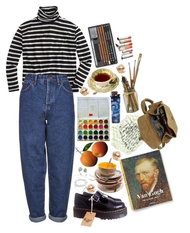 """..."" by pankaaa ❤ liked on Polyvore featuring J.Crew, Boutique, Dr. Martens and Maison d'usQ"