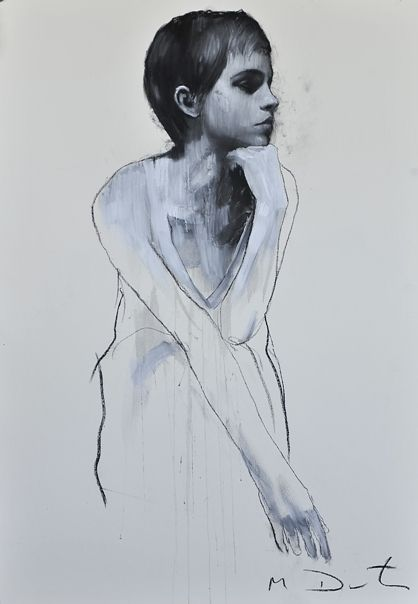 Mark Demsteader paints Emma Watson #art
