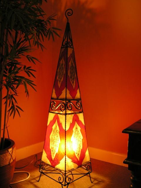 Floor standing henna lamp in red. http://www.maroque.co.uk/showitem.aspx?id=ENT01709&p=00741