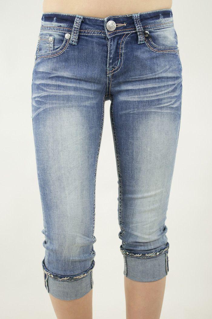 Paisley Bronze Capri Jeans | Grace in LA