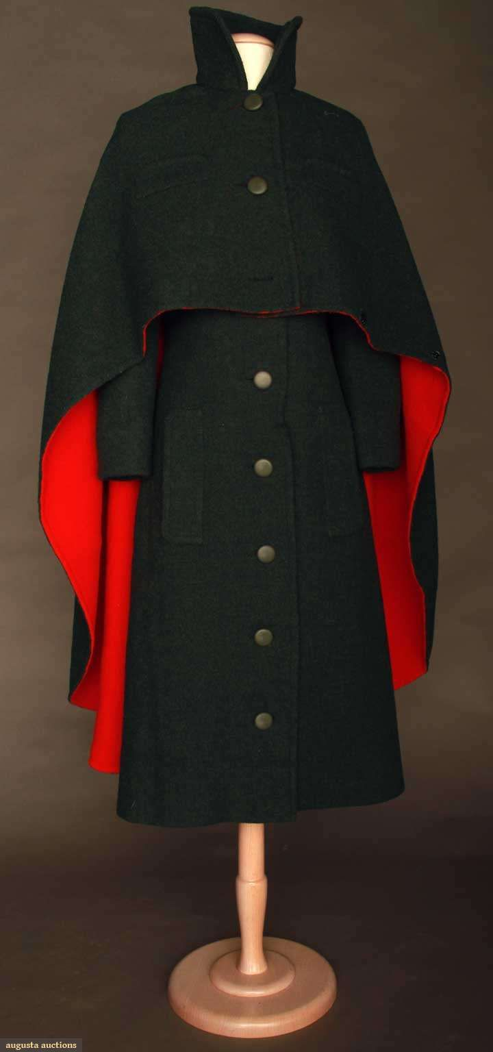 Ephemeral Elegance | Wool Coat Dress and Cape, ca. 1970s Pierre Cardin...