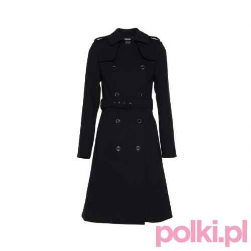 Czarny płaszcz Simple CP #polkipl #plaszcz