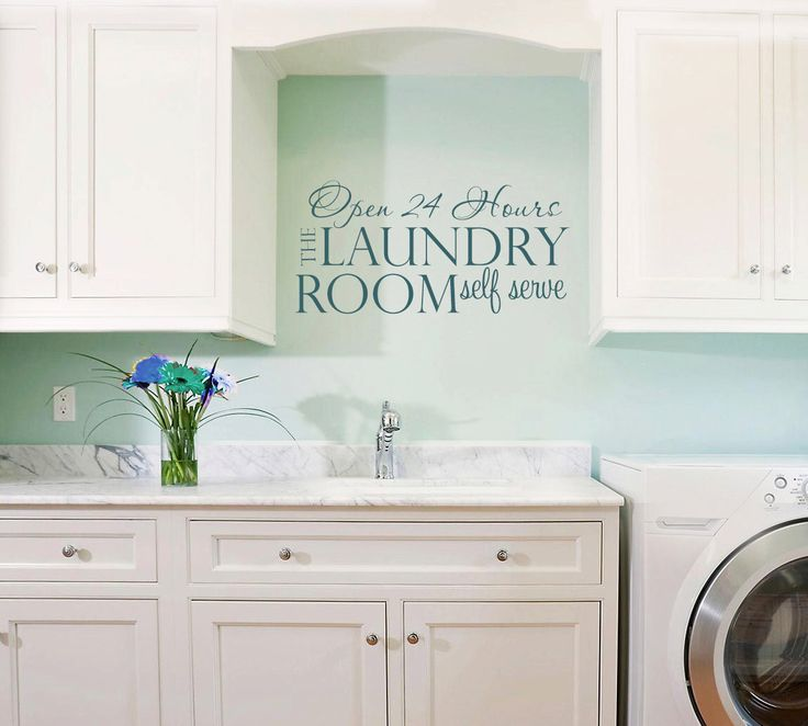 Laundry Room Decal - Laundry Vinyl Wall Decal - Laundry Room Decor - Laundry Room 24 hour by ParadiseDecals on Etsy https://www.etsy.com/listing/262393944/laundry-room-decal-laundry-vinyl-wall