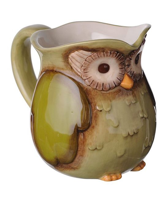 Owl Stuff For The Home Part - 25: Owl Pitcher