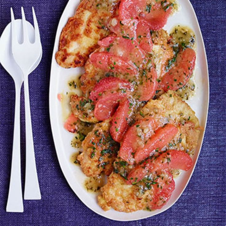 Chicken Francese With Grapefruit Tarragon Sauce Rachel Ray