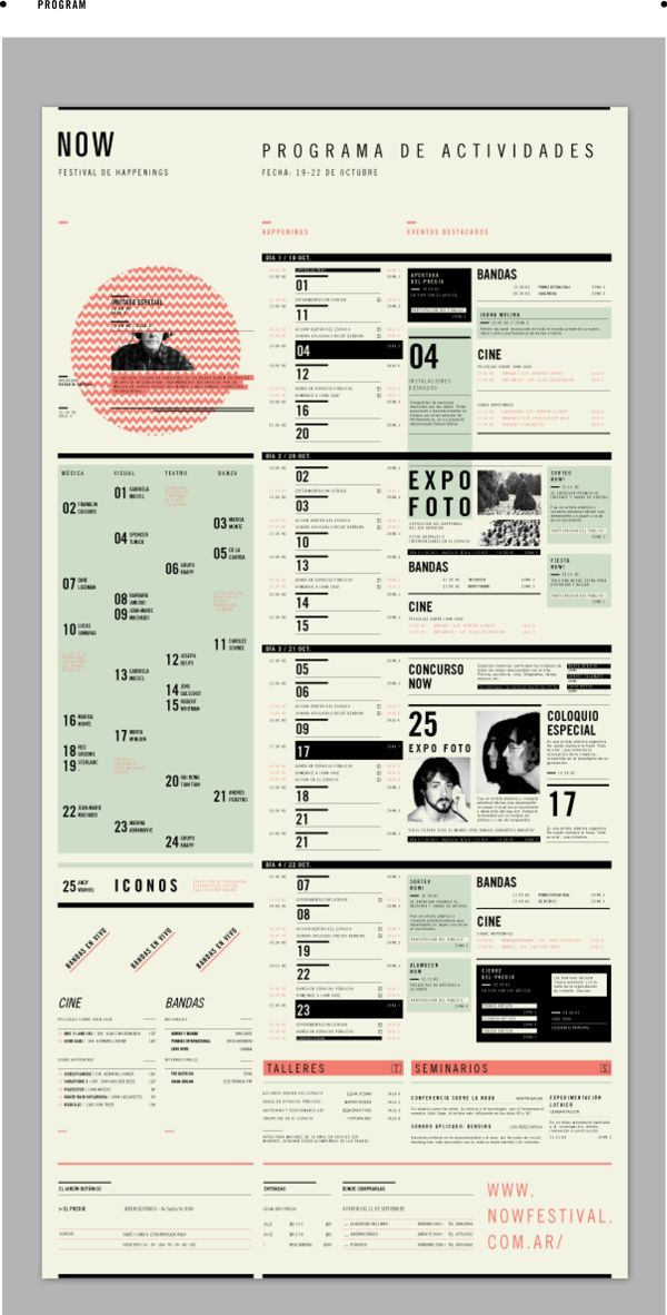 NOW - happenings festival by Rocío Fernández Fuks, via Behance