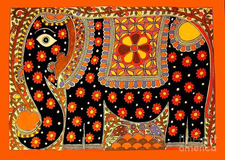 King's Elephant-madhubani Paintings by Neeraj kumar Jha - King's ...