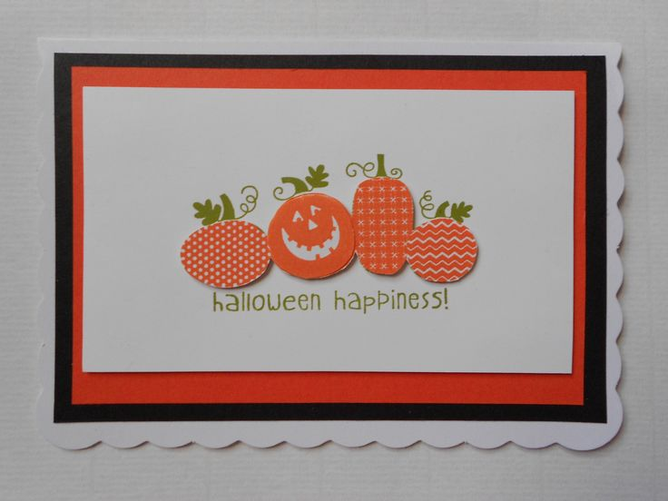 Stampin' Up! Halloween Happiness  I love pumpkins :) stampinsnowflake.blogspot.co.uk