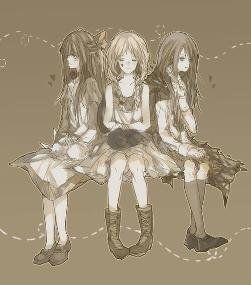 Mad Father (Aya), The Witch's House (Viola), and Ib (Ib)