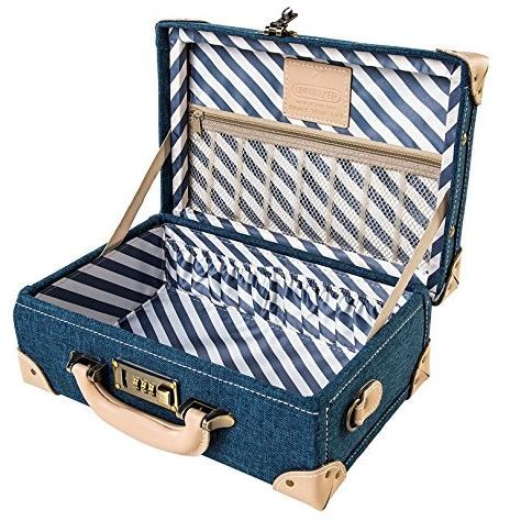 Ladies love the retro design of the  Uniwalker 12 inch Women Genuine Leather Small Case #travel #luggage