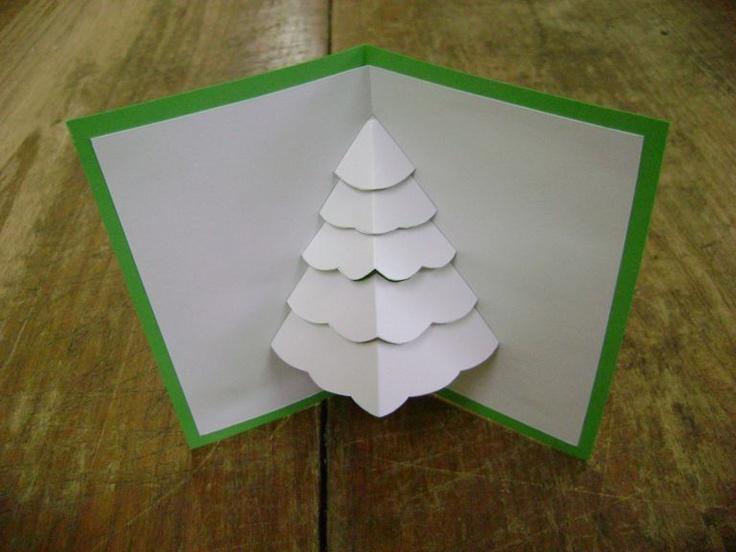 Cartão pop-up: Árvore de Natal