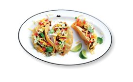 Beef Picadillo Puffy Tacos