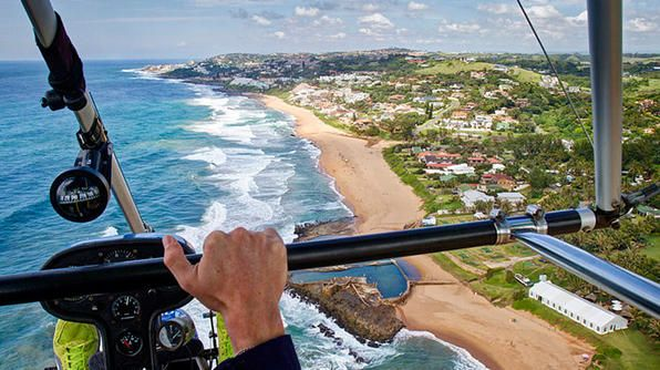 Fly over the Indian Ocean along the coast of wilderness in a microlight aircraft.    You May Also Like  Matthew's Expert Vagabond website  Fortune Told by a Sangoma   South Africa's Wine Country  South African Food