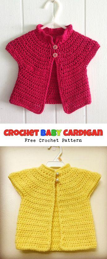 Baby Cardigan - FREE Pattern   Pinterest   Free pattern, Patterns ...