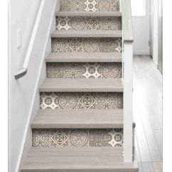 stickers contremarche carreaux de ciment gris escalier pinterest escalera escalada y. Black Bedroom Furniture Sets. Home Design Ideas