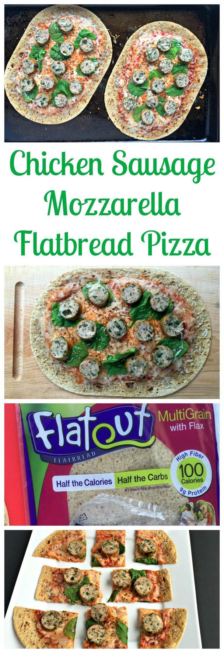 chicken.sausage.flatbread.flatout.pizza #ad