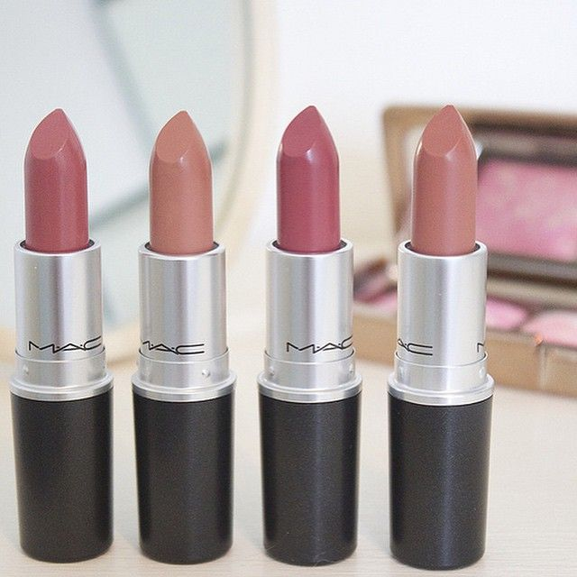 MAC lipstick must have: shades in Brave, Honeylove, Twig  Velvet Teddy (my favorite)