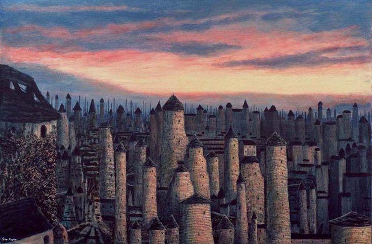 """A view of Gormenghast Castle, inspired by Mervyn Peake's """"Gormenghast Trilogy"""""""