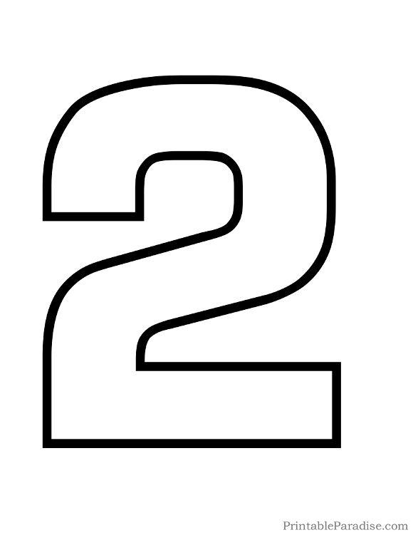 Printable Bubble Number 2 Outline | numeros | Pinterest ...