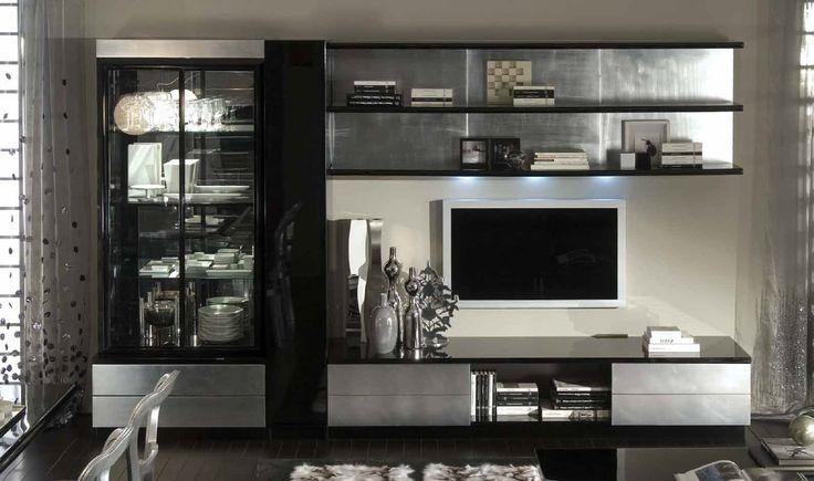 * Наборная стенка ТВ Prestigio в стиле модерн от фабрики GC Colombo * Mobular TV wall Prestigio in modern style by factory GC Colombo