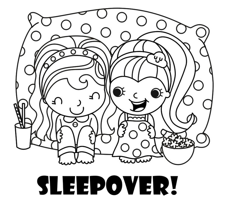 pajama theme coloring pages - photo#22