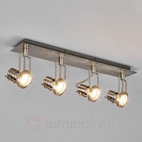 Plafonnier LED Agidio à 4 lampes