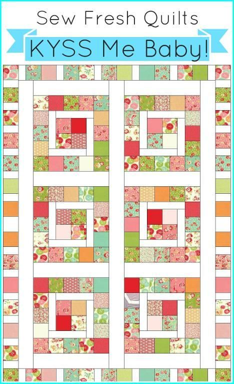 KYSS Me Baby!  A ... by Lorna McMahon | Quilting Pattern - Looking for your next project? You're going to love KYSS Me Baby!  A Charm Pack Quilt by designer Lorna McMahon. - via @Craftsy