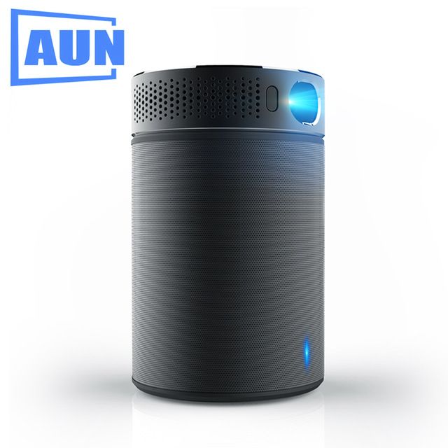 246$ AUN Portable Projector Q8 Set in Android 5.1 WIFI HDMI. 10900mAH Battery Power Bank for LED Projector, Use as Bluetooth Speaker