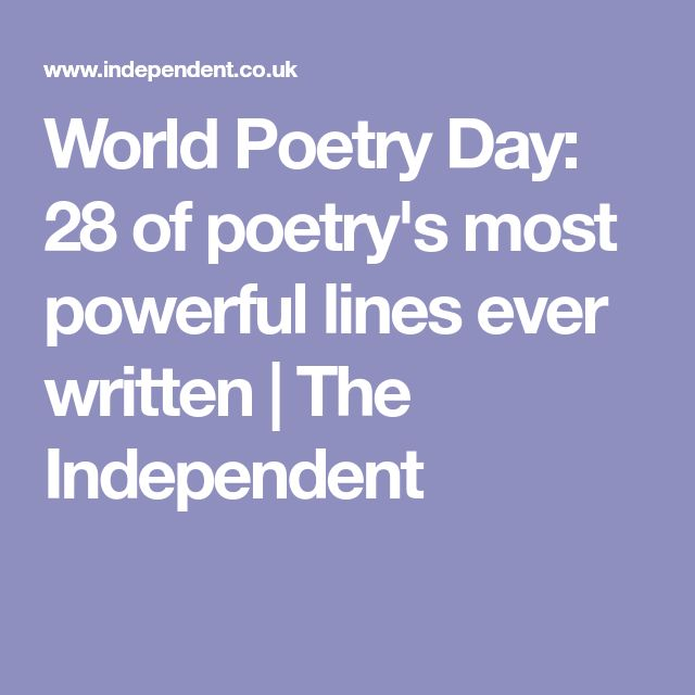 World Poetry Day: 28 of poetry's most powerful lines ever written | Variation on the word sleep