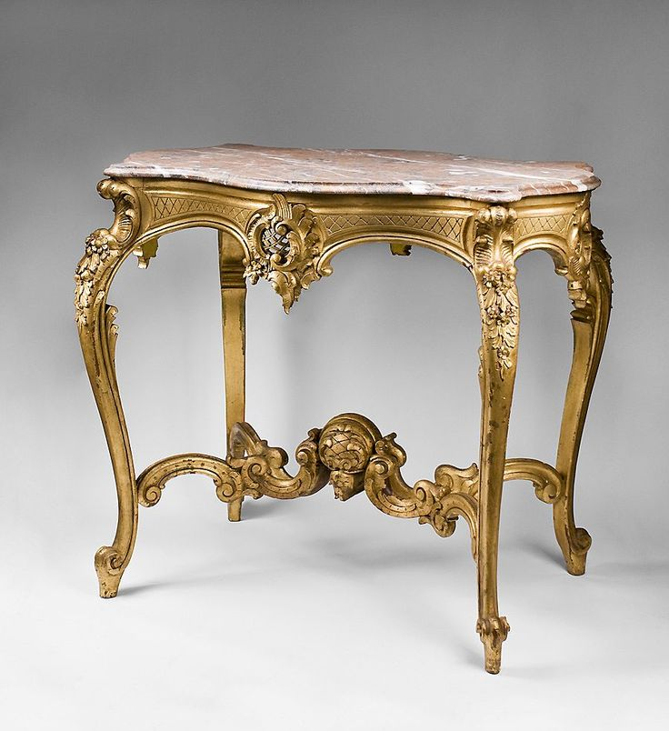 19th C Hand Carved Giltwood Italian Rococo Center Table