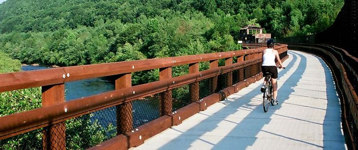 Trail Link - If you are going to bookmark one site, this is the one. This is the most comprehensive list of rail trails in the USA.  - Rails-to-Trails Conservancy is a nonprofit organization based in Washington, D.C., whose mission it is to create a nationwide network of trails from former rail lines and connecting corridors to build healthier places for healthier people.