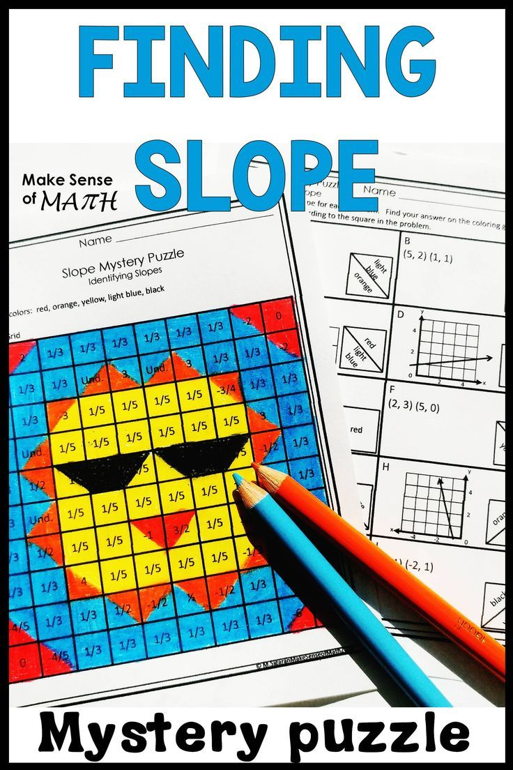 Finding Slope Activity Mystery Puzzle