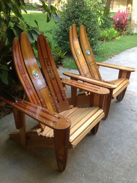 Ski-daddle Water Ski Outdoor Furniture - Recycled Water Skis, Water Ski Chairs…