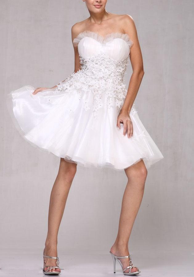 White Bachelorette Dress