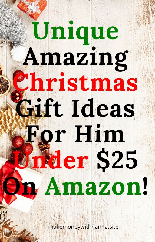 Christmas gift ideas for him under $25 on amazon.gift ...