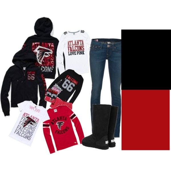 Atlanta Falcons, created by autumnleaves97 on Polyvore