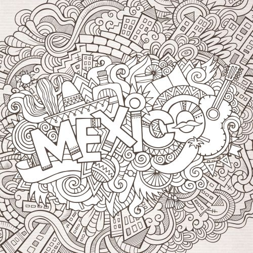 printable mexican food coloring pages - photo#35