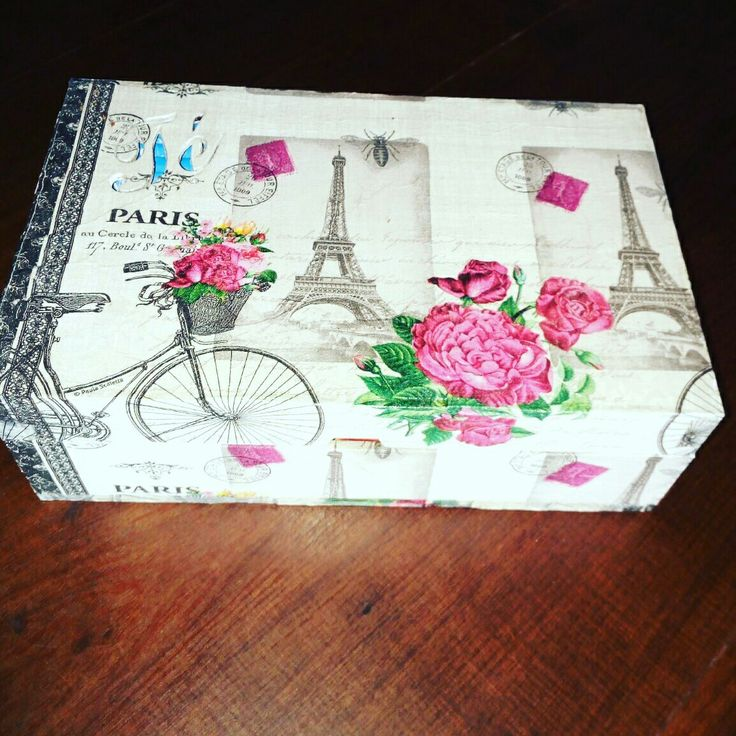Caja de Te Decoupage Paris caja d te
