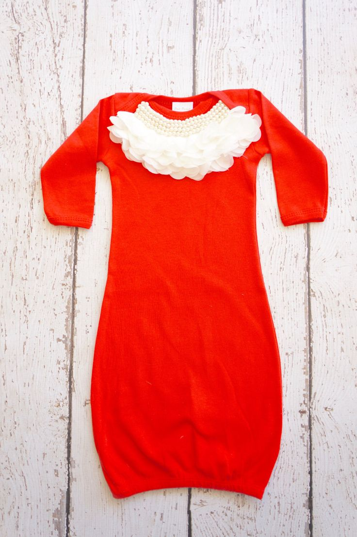 Christmas dress for baby - Newborn Christmas Baby Girl Outfit Newborn Gown Infant Gown Going Home Outfit Hospital Outfit Christmas Newborn Christmas Baby Gown