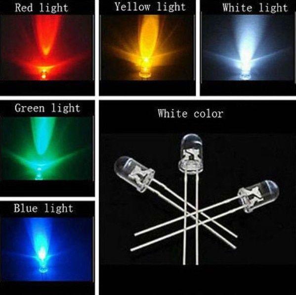100PCS  3MM LED BLUE COLOR Blue LIGHT Super Bright NEW
