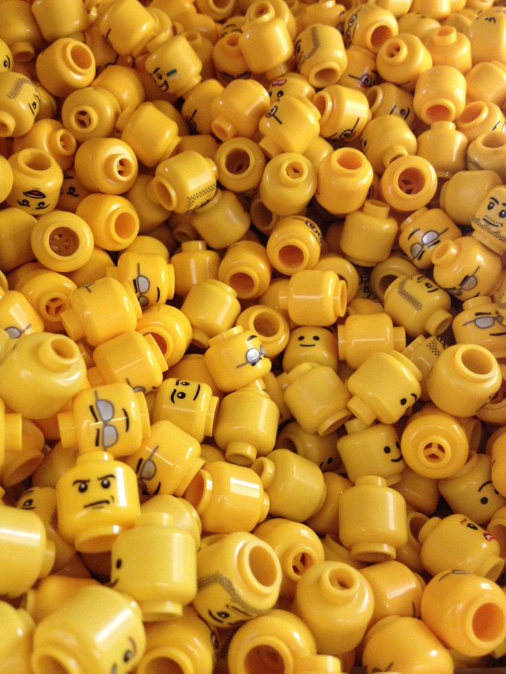 Yellow Lego heads…make these out of yellow construction paper for a mask, let kids draw faces.