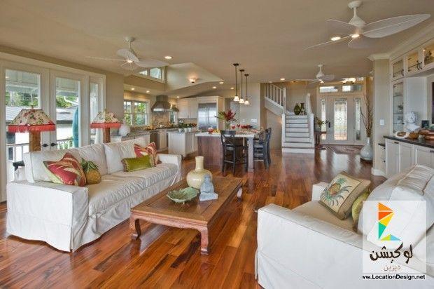 كولكشن مطابخ مفتوحه على الصاله للشقق الحديثة لوكشين ديزين نت Open Concept Kitchen Living Room Living Room And Kitchen Design Family Room Design