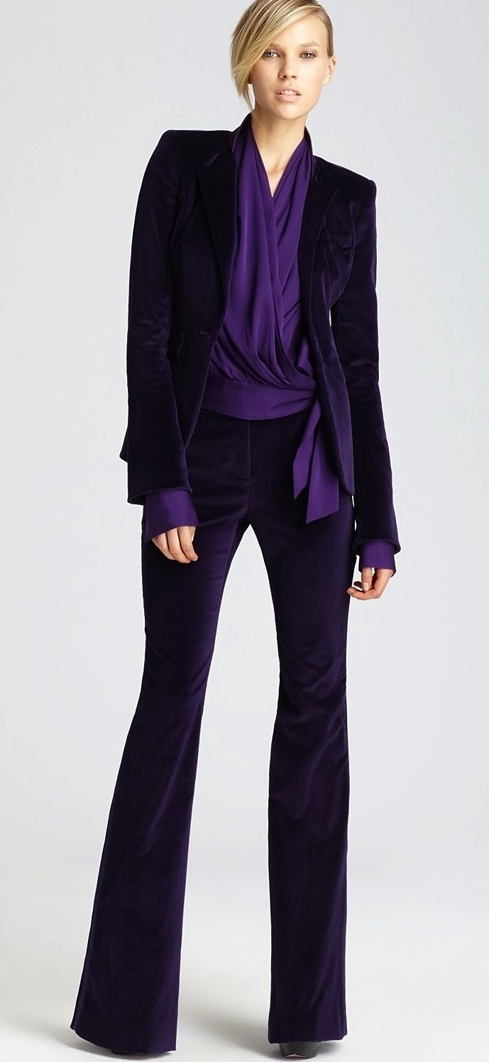 c4c21bfd384 purple pant suit i would rock this and make it the next big thing ...